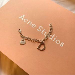 "🛍3/30 925 Silver ""D"" Bracelet"